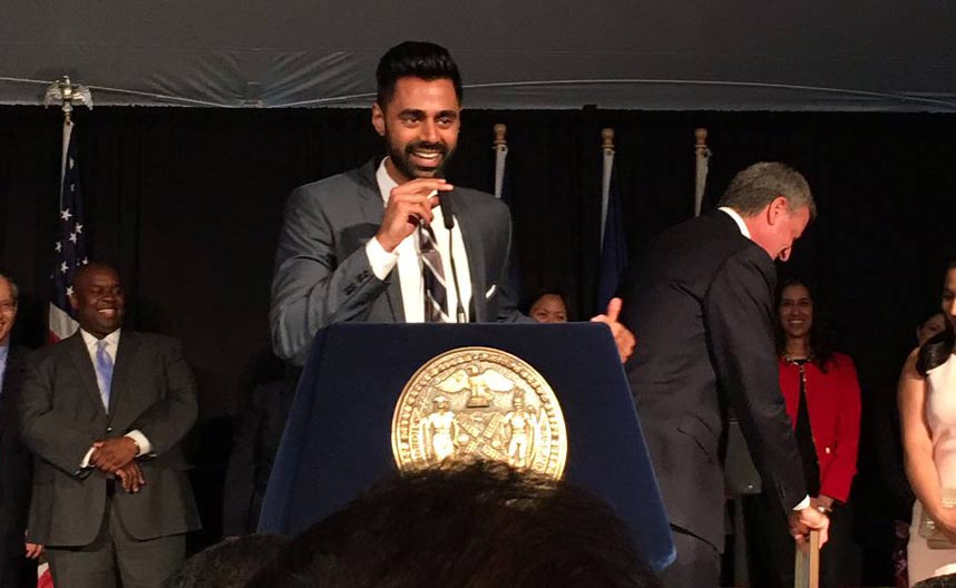 NYC Mayor Bill de Blasio honors Hasan Minhaj at Asian-Pacific American Heritage reception
