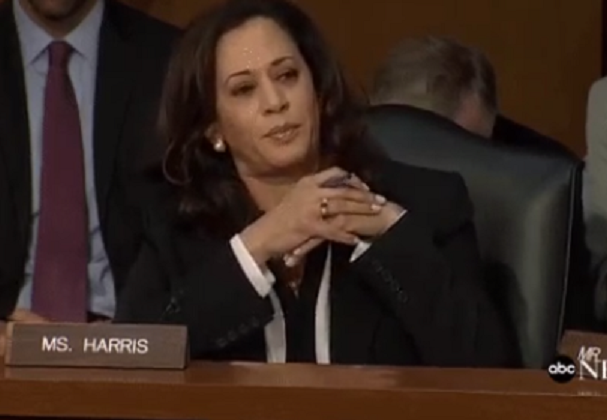 Kamala 'Kook' Harris gets scolded for interrupting Trump official