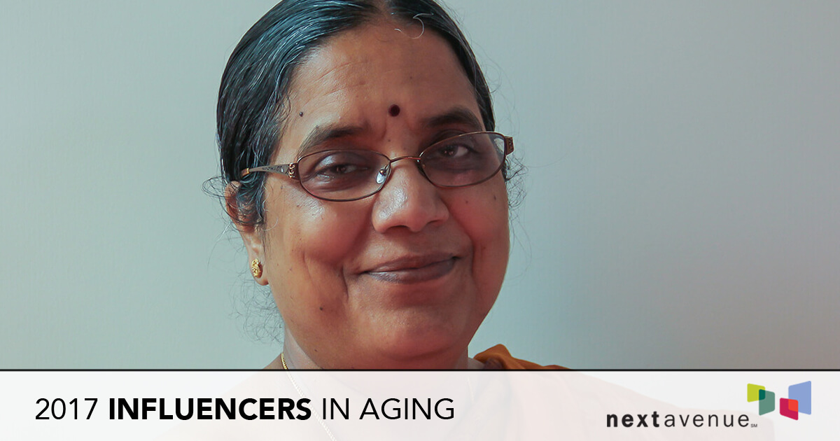 Dr. Vasundhara Kalasapudi named 'Influencers in Aging' for 2017 by Next Avenue