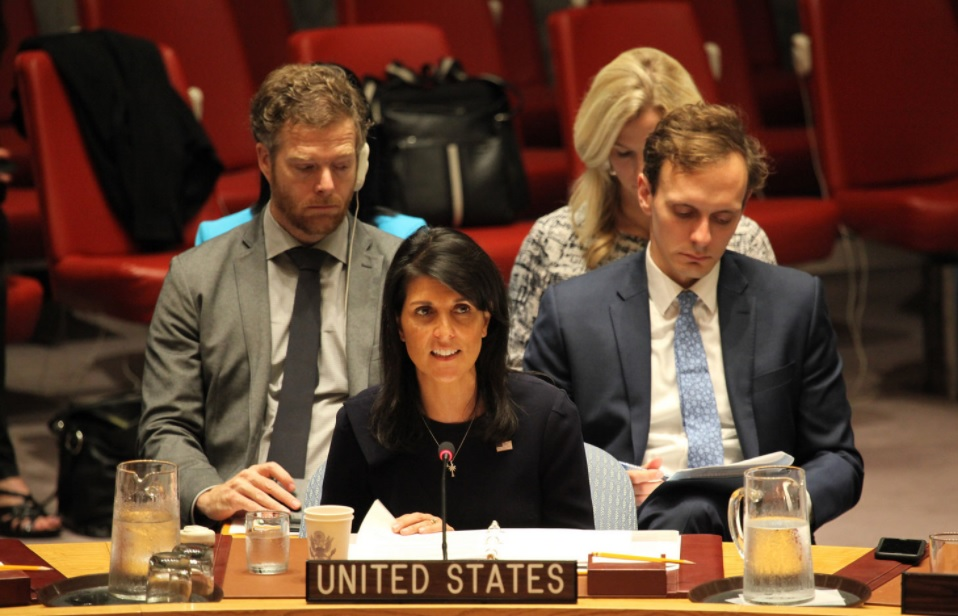 Nikki Haley warns Iran of helping terrorist outfits