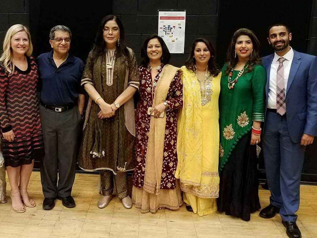 Actress Zeenat Aman (third from left) is flanked by guests and volunteers at the sixth annual Washington DC South Asian Film Festival (DCSAFF). In the center is Geeta Singh, co-founder and co-director of the festival.