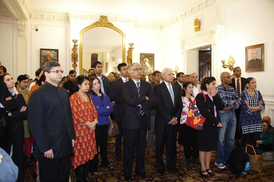 Audience in attendance at the celebration of the 148th Birth Anniversary of Mahatma Gandhi