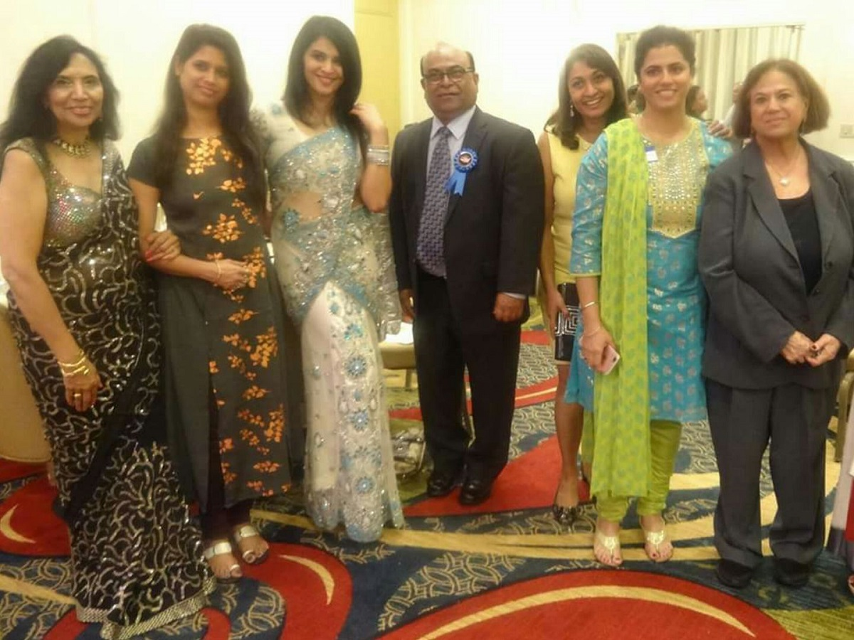 Board members of the National Federation of Indian American Associations (NFIA) with guests at the 2017 Empowering Women and Girls Conferenc