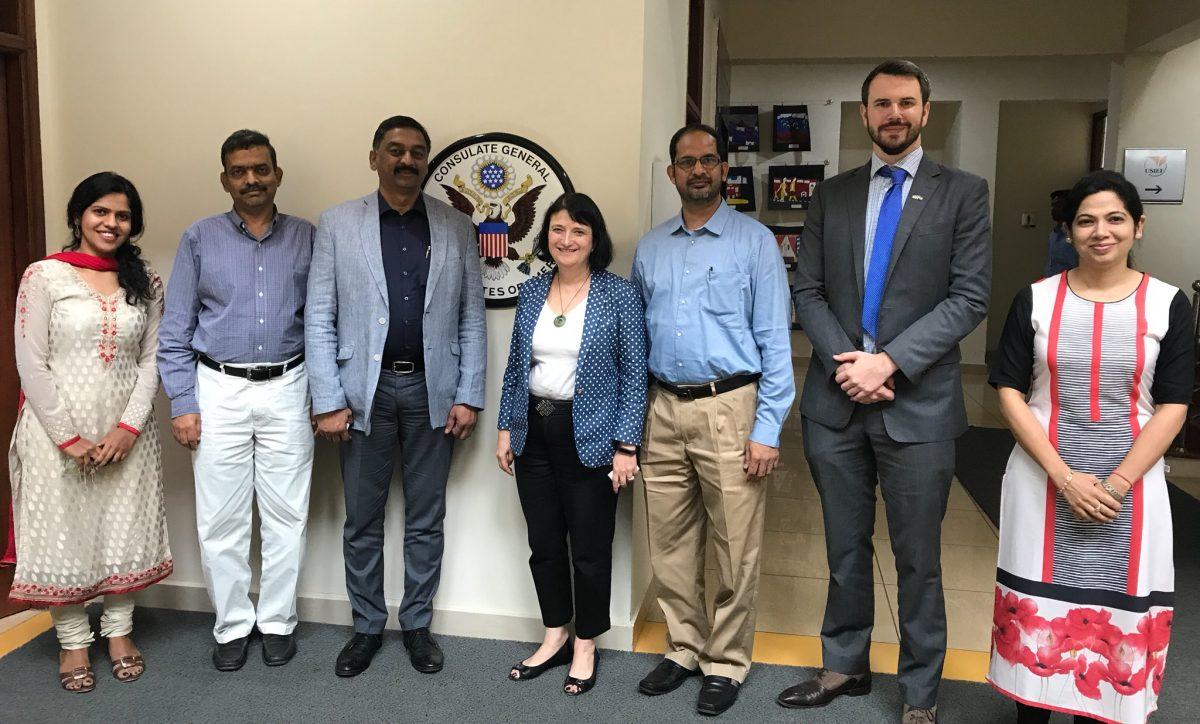 Consul General Katherine Hadda with AP & TS leadership of IACC