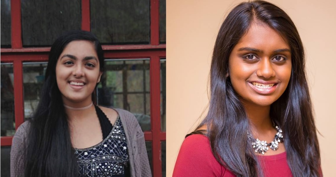 Hana Mangat (left) and Kavya Kopparapu.