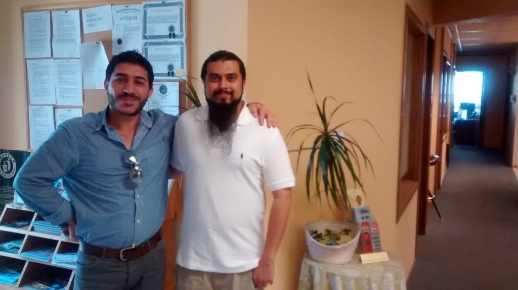 Nikhil Mankekar on the right (Courtesy of news.kgnu.org)