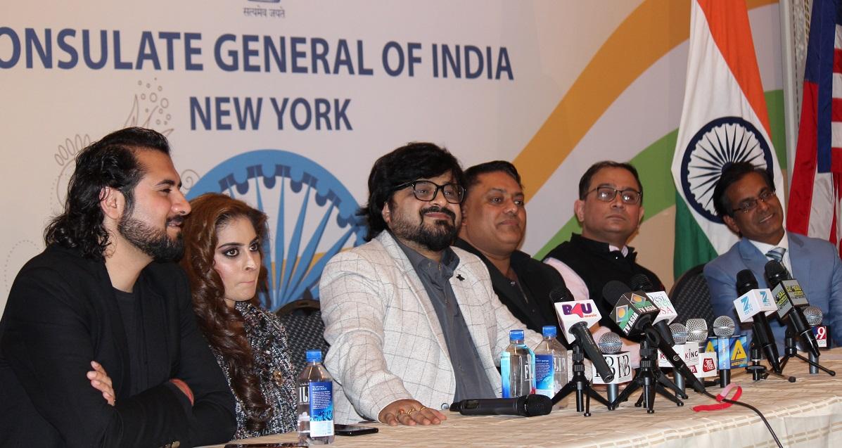 From Right to left: Dr Sanjay Gupta, Consul General Sandeep Chakravorty, Karl Karla, Pritam Chakraborty , Sona and Anand Dawda