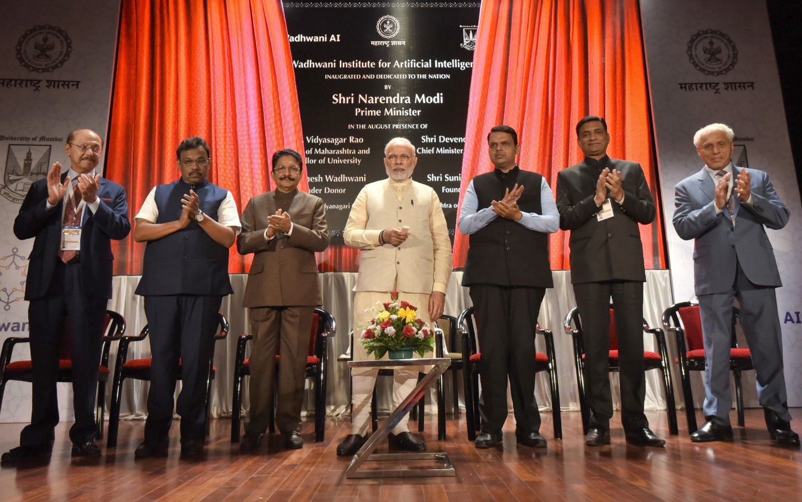 Prime Minister, Shri Narendra Modi at the inauguration of the Wadhwani Institute for Artificial Intelligence, in Mumbai, Maharashtra(Courtesy of Twitter)