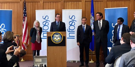 Infosys to establish innovation hub and create 1,000 jobs in Hartford, Connecticut