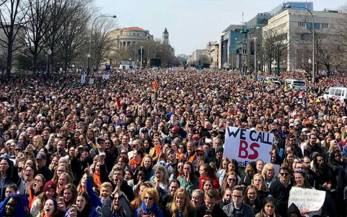 Massive crowds descend on Washington to demand gun control