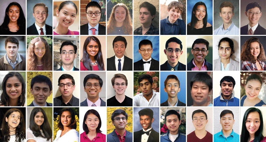 The 40 finalists of the 2018 Regeneron Science Talent Search