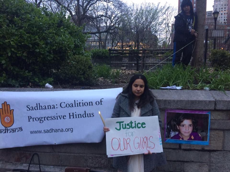 Sadhana holds 'United for Justice rally' in New York to extend support to rape victims in India