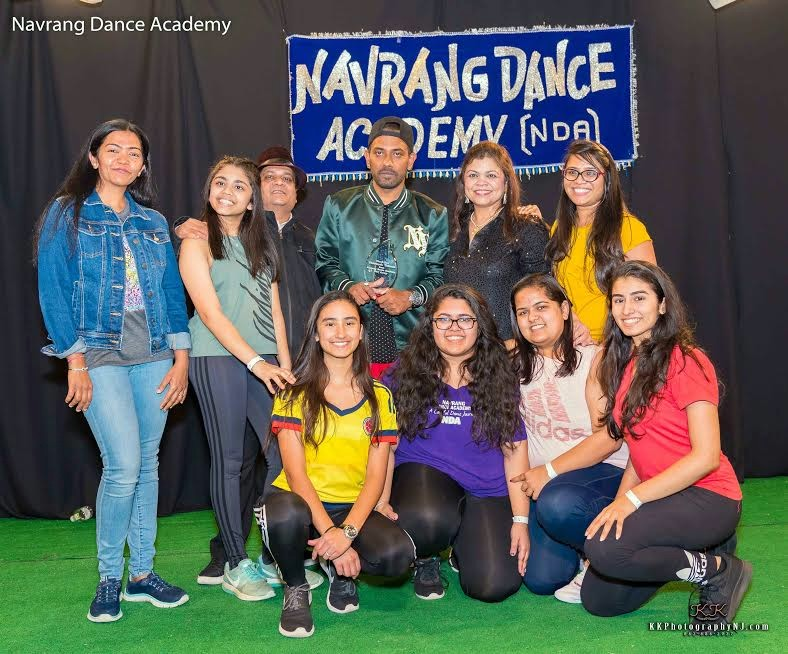 Choreographer Dharmesh with students of Navrang Dance Academy