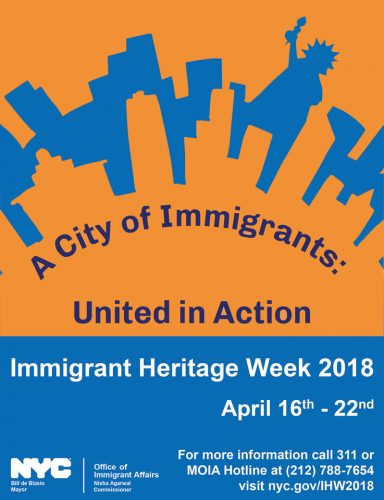 NYC to celebrate Immigrant Heritage Week from April 16 to 22
