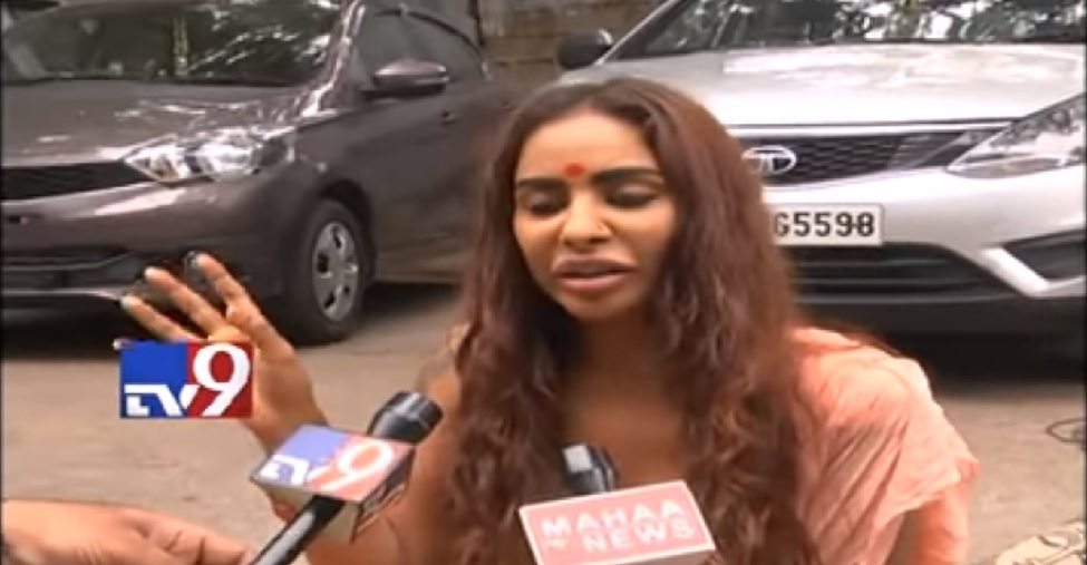 Indian actress goes topless to protest against 'Casting Couch' trend in Telugu film industry