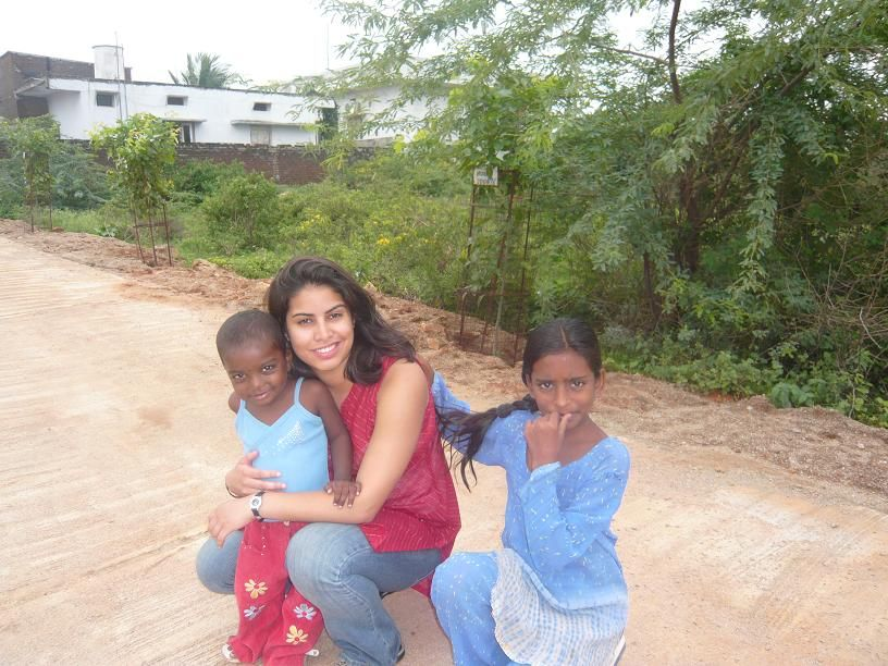 Anjali Daryanani first volunteering at Spandana when she was 19 years old, working as an English teacher and a yoga teacher at Spandana for two months.