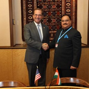 JP Nadda and Alex Azar