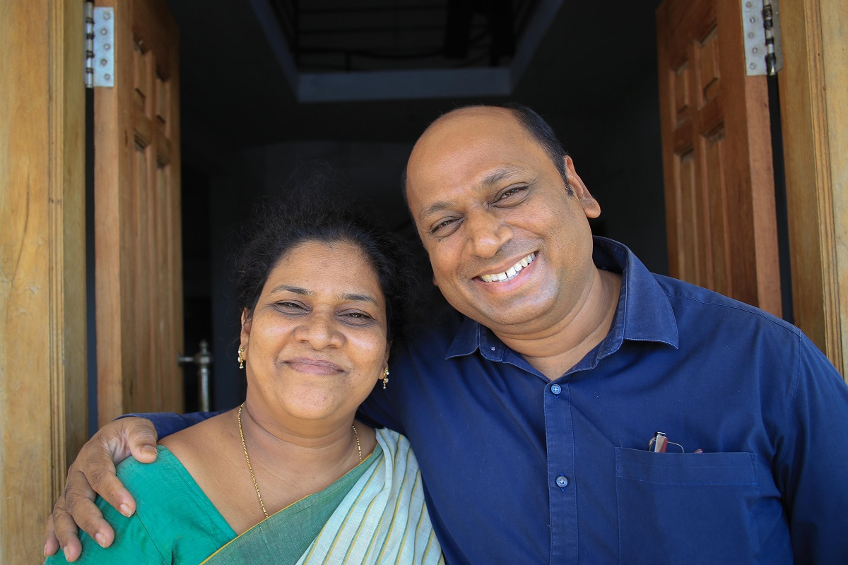 """The founders of Spandana Society, Uttam Kumar and Shobha Rani – born and raised in Hyderabad – who are the """"mother"""" and """"father"""" of all 74 children at the Spandana Children's Home"""
