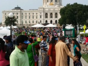The annual IndiaFest, organized by the Indian Association of Minnesota, was held at the State Capitol Grounds in St. Paul, MN,