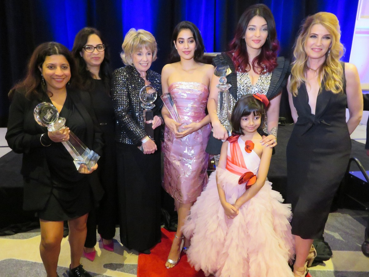 Aishwarya Rai Bachchan, Meryl Streep Award of Excellence; Aaradhya Bachchan; and Kimberly Skyrme