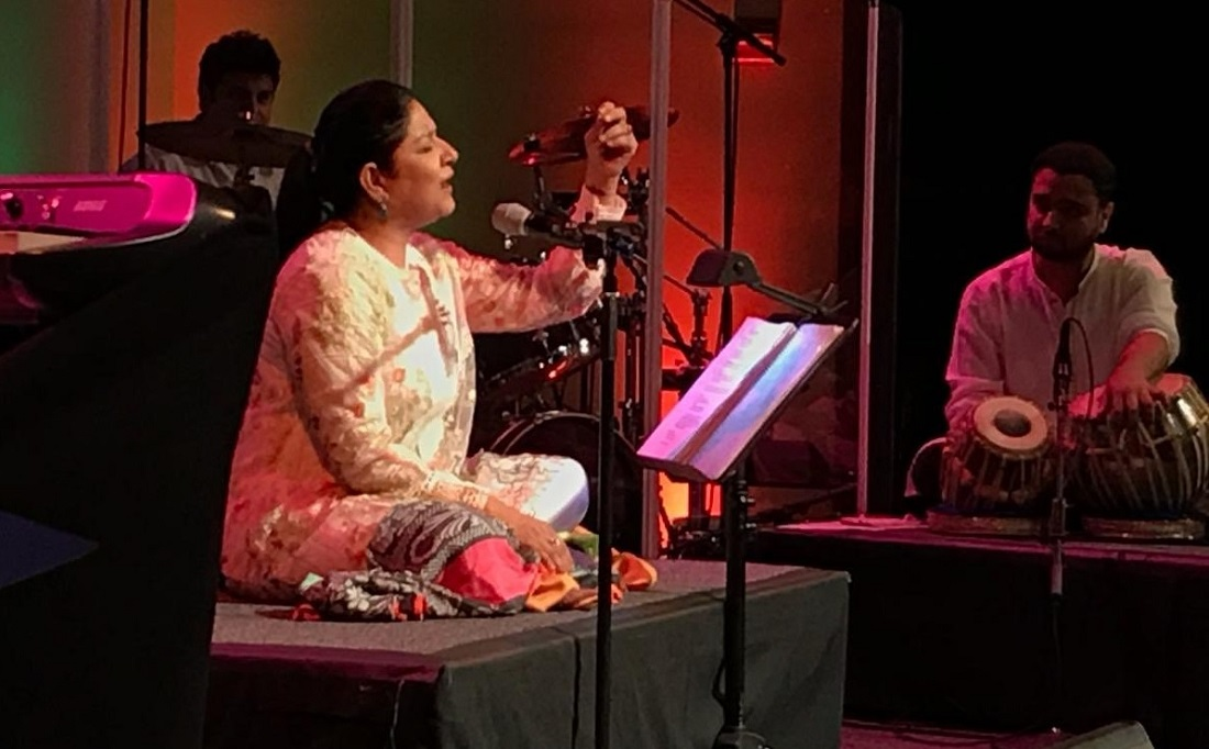 Zila Khan performing at Georgetown University on September 16.