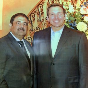 Danny Gaekwad with Ron DeSantis