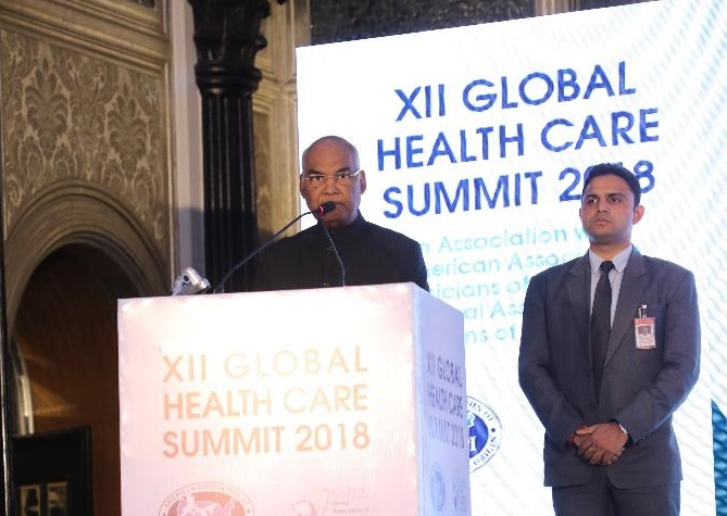 Indian President Ram Nath Kovind inaugurating the 12th AAPI Global Healthcare Summit in Mumbai on December 28, 2018.