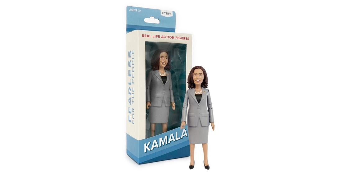 Kamala Harris action figure.