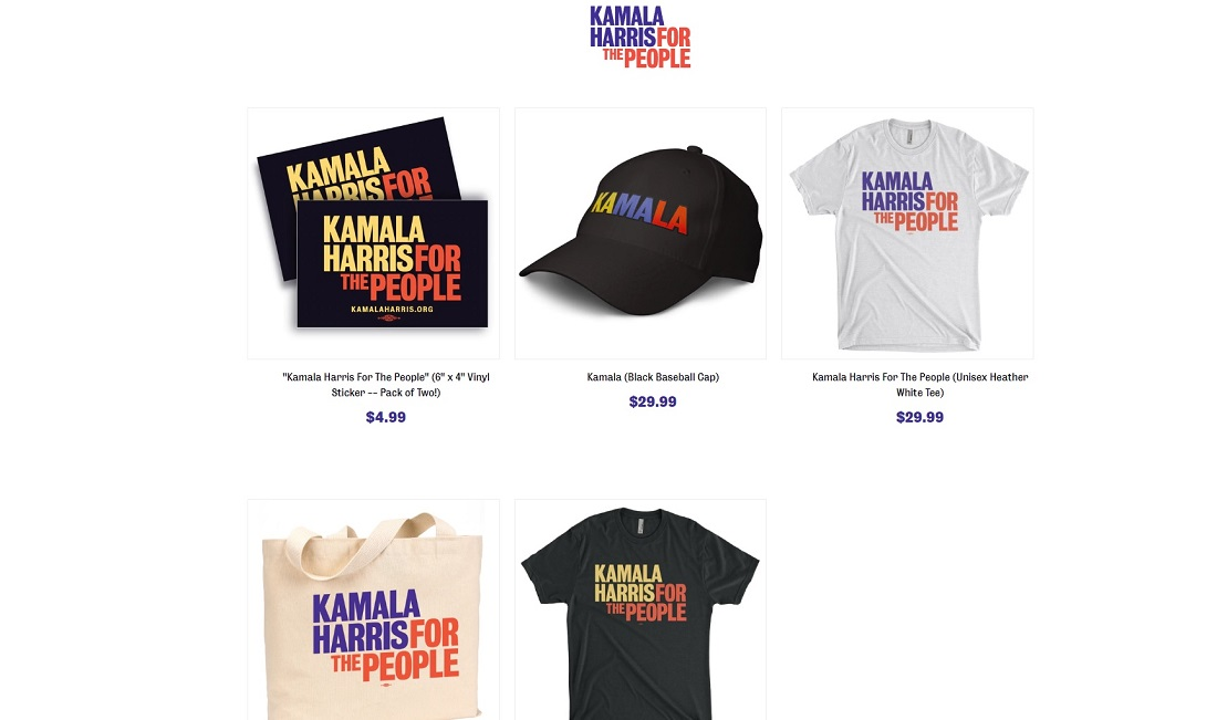 Presidential T-Shirt Official Election Apparel Hope for Kamala Harris 2020
