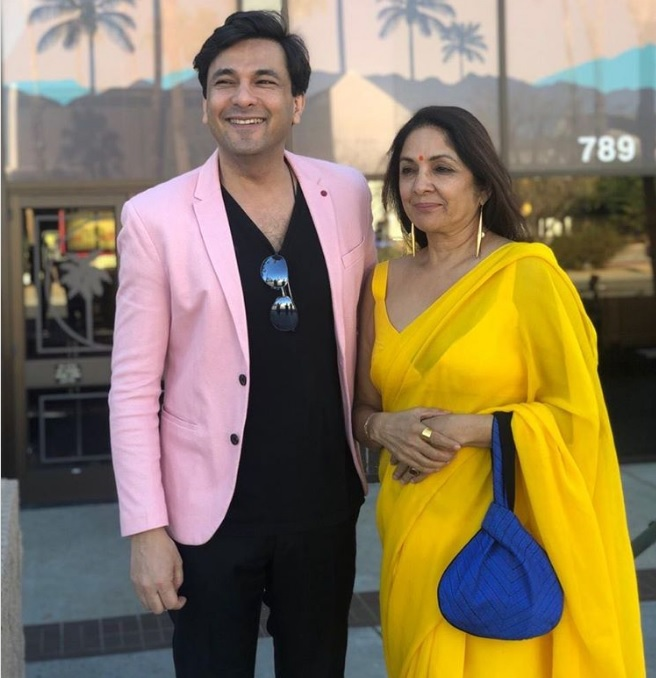 Neena Gupta Stuns With Her Saree At Palm Springs Film Festival
