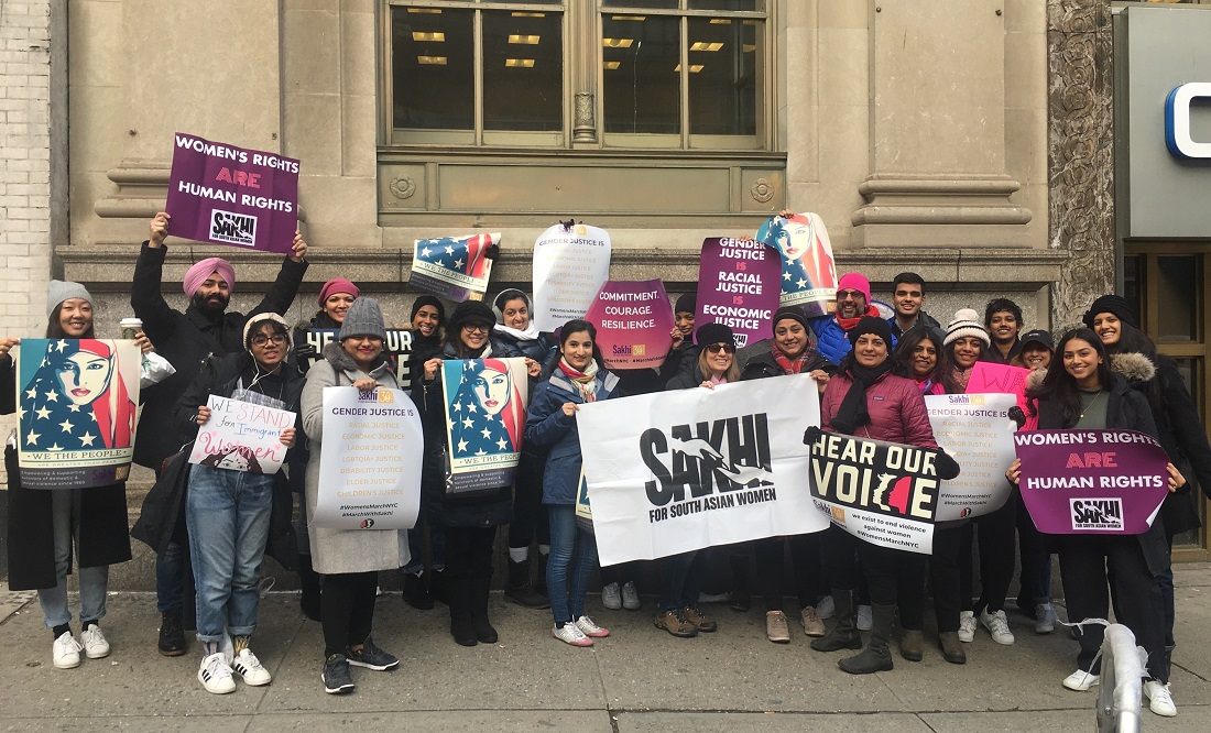 Sakhi for South Asian Women was an official partner of the Women's March in New York and a steering committee member of the march in Washington., D.C.