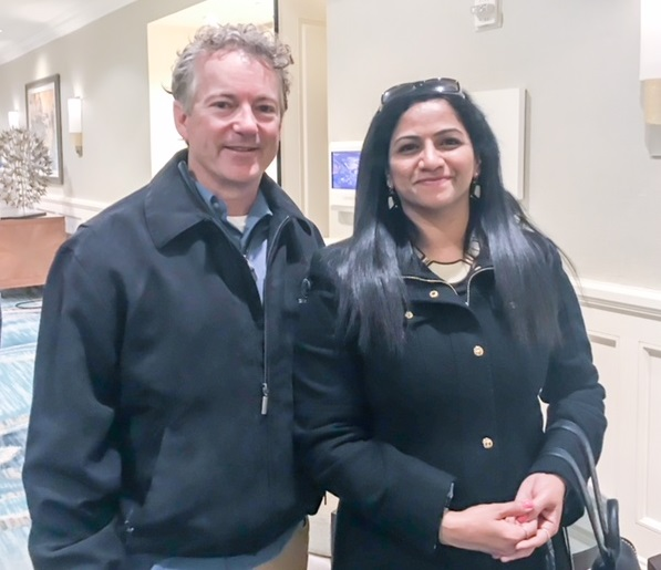 Netra Chavan with Sen. Rand Paul, R-KY.
