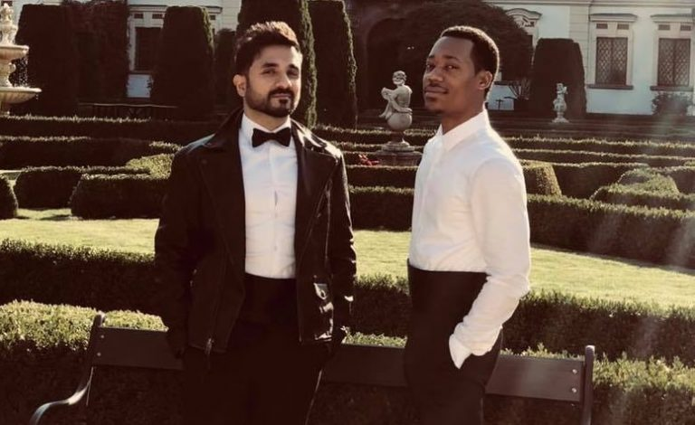 Vir Das, left, with co-star Tyler James Williams.