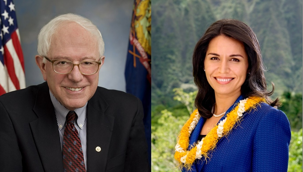Bernie Sanders and Tulsi Gabbard