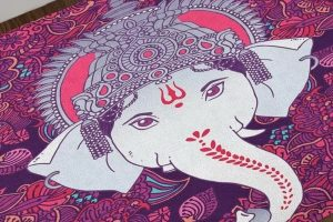 """Lord Ganesh Bath Mat"" sold on Wayfair."