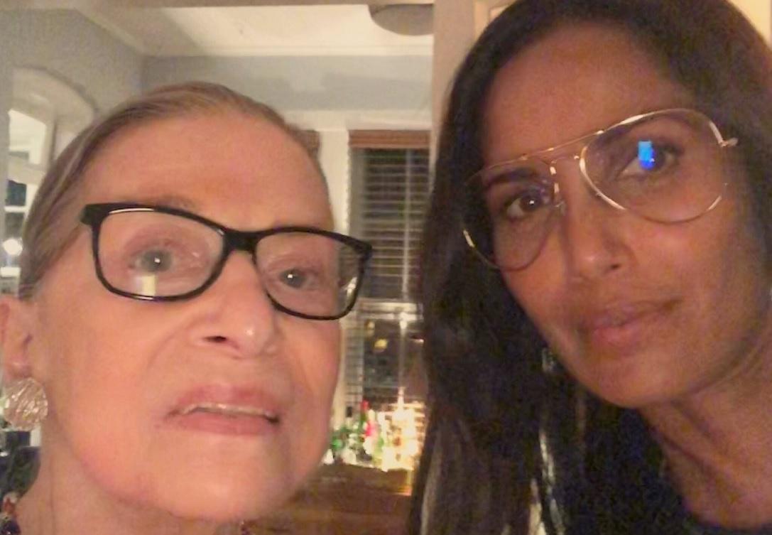 Padma Lakshmi with Ruth Bader Ginsburg