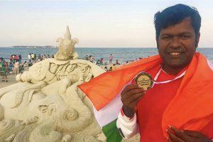 Sudarsan Pattnaik with medal