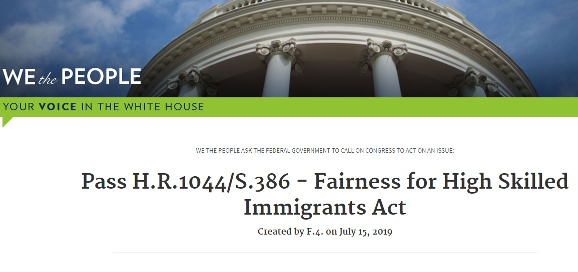 Petition launched on White House website in support of