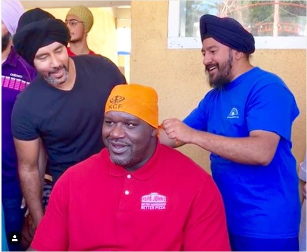 Shaquille O' Neal at the gurudwara