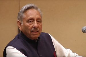 Mani Shankar Aiyer delivering the inaugural Rajiv Gandhi lecture on September 17, 2019.