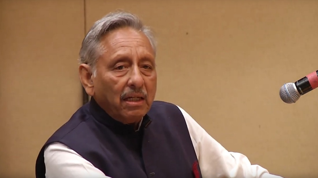 Mani Shankar Aiyar delivering the inaugural Rajiv Gandhi lecture on September 17, 2019.