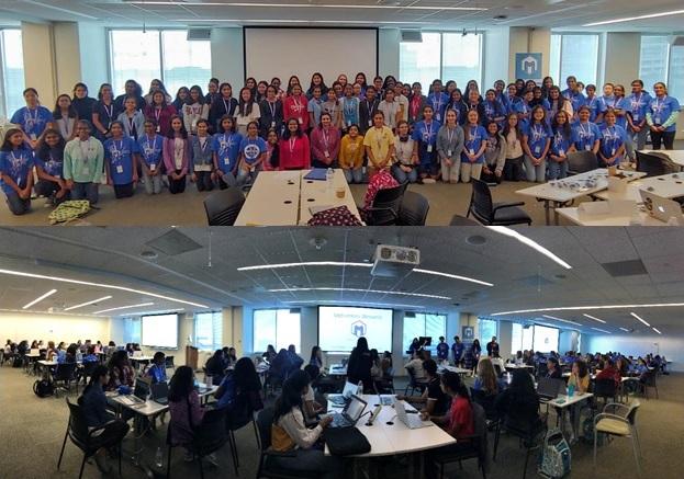 Hackers at Washington DC MetroHacks Women III Hackathon
