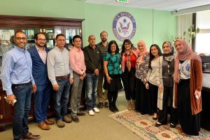 Rep. Pramila Jayapal with her Kashmiri American constituents