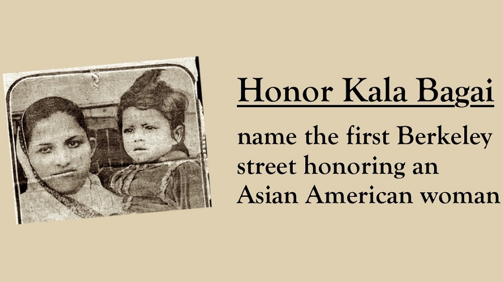Indian Americans want a Berkeley street named after Kala Bagai