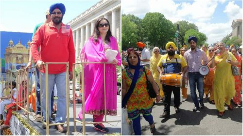 To honor members of the Sikh and larger Punjabi community, New York City Council has approved the renaming of certain thoroughfares in Queens to 'Gurdwara Street' and 'Punjab Way'. Here members of the Sikh community are seen participating in a Vaisakhi parade held in the nation's capital