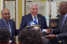 House Majority Leader Steny Hoyer receiving the King Leadership Award for Leadership and Public Service in Washington, DC, on January 19, 2019.