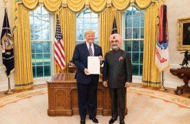 Taranjit Sandhu presents credentials