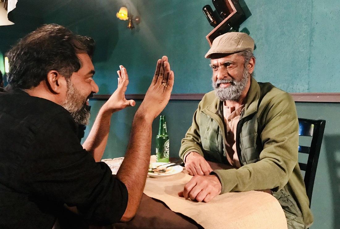 "Thampy Antony Thekkek (right), with Vinod Krishna, director of ""Elam."""