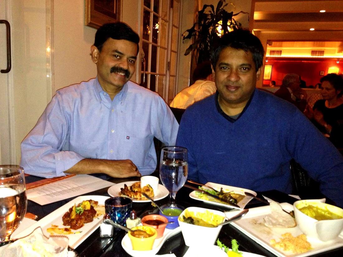 Chef K.N. Vinod with Chef Floyd Cardoz, who died of coronavirus in New York.
