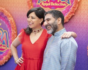 """Disney Junior hosted the world premiere of upcoming animated series """"Mira, Royal Detective"""" at The Walt Disney Studios in Burbank, CA on Saturday, March 7. Cast members including Freida Pinto, Utkarsh Ambudkar and Leela Ladnier were joined by special guests and their families. Debuting March 20, 2020 in the U.S. and India, the series is set in the magical Indian-inspired land of Jalpur and follows the brave and resourceful Mira, a young girl who is appointed to the role of royal detective by the Queen. (Disney Junior/Image Group LA) SONAL SHAH, PARVESH CHEENA"""
